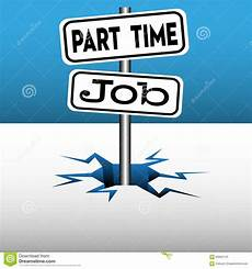 Part Time Jobs Part Time Job Stock Vector Image 60662120