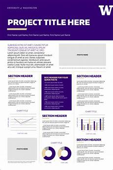 Research Poster Template Free Research Posters Uw Brand