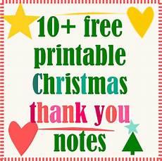 Printable Christmas Note Cards 10 Free Printable Christmas Thank You Notes