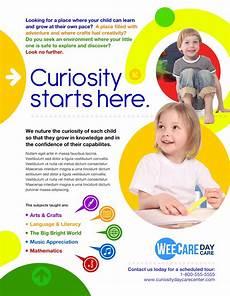 Child Care Flyer Design Marketing Day Care Pamphlet Design School Brochure