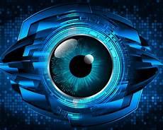 Cyber Eye Blue Eye Cyber Circuit Future Technology Background Vector