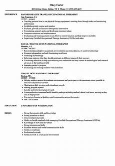 Cota Resume Occupational Therapy Goal Setting Template