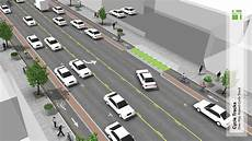 Cycle Track Design Raised Cycle Tracks National Association Of City