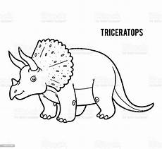 coloring book for children triceratops stock