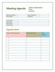 Agenda Template Word 46 Effective Meeting Agenda Templates ᐅ Templatelab