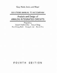 Analysis And Design Of Analog Integrated Circuits Pdf Download Analysis And Design Of Analog Integrated Circuits