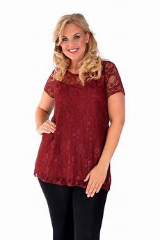 womens length sleeve tops new womens top plus size lace lined tunic t shirt