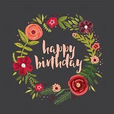 Cards Of Happy Birthday Floral Circle Birthday Card Free Greetings Island