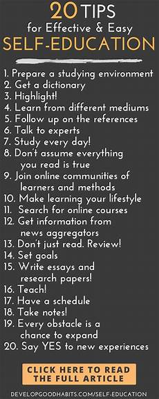 education tips 20 tips for effective self education