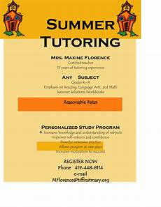 Math Tutor Flyer Examples Flyer For Tutoring Services Offers Community Programs