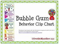 Gum Chart Bubble Gum Behavior Clip Chart By Over The Moonbow Tpt