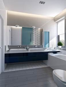 Contemporary Blue Modern House Interiors With Dynamic Texture And Pattern