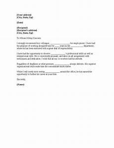 Co Worker Recommendation Letter Sample Recommendation Letter Coworker Co Worker Reference