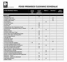 Kitchen Cleaning Rota Template Kitchen Cleaning Schedule Template Uk Printable Schedule