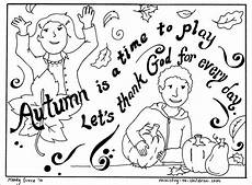 autumn coloring page quot let s thank god quot easy printable pdf