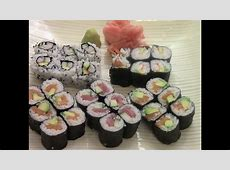 How To Make Simple And Delicious Sushi(1/2)   YouTube