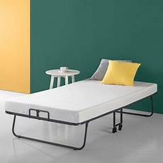 zinus roll away smart guest bed with 4 inch comfort foam