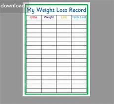 Weight Loss Sample 23 Weight Loss Chart Templates Free Excel Formats