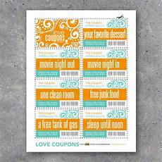 Coupons For Love Coupons For Teens Printable Instant Download