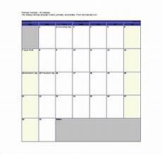 Calendar Free Templates 16 Printable Microsoft Word Calendar Templates Free
