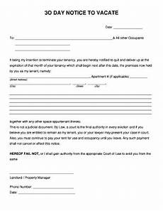 Printable 30 Day Notice To Landlord 30 Day Eviction Notice Pdf Fill Online Printable