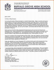 High School Student Recommendation Letter 10 Letter Of Recommendation For High School Student