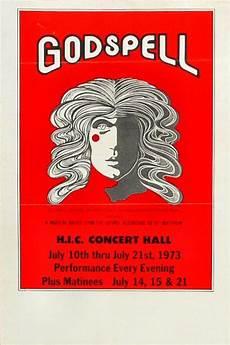 Handbill Size Godspell Vintage Concert Handbill From Honolulu