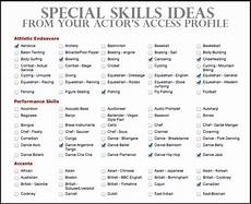 Resume Skill List Resume Acting And Resume Examples On Pinterest