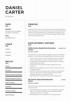 Online Instructor Resume Esl Teacher Resume Sample Amp Writing Guide Resumeviking Com