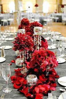 red silver white black wedding inspirations red