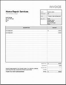 Repair Receipt Home Repair Receipt Template For Excel Word Amp Excel