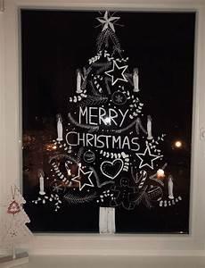 Malvorlagen Fenster Fensterbild Zu Weihnachten Selfmade Mit Kreidestift
