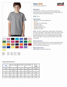 Anvil T Shirts Size Chart Anvil 905b Youth Basic Cotton T Shirt 2 84