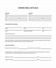 Horse Bill Of Sale Free 36 Bill Of Sale Forms In Ms Word