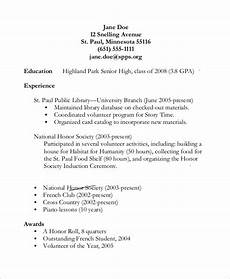 Sample Resumes For High School Students Free 8 Sample High School Resume Templates In Pdf Ms Word