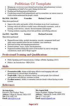 Political Resume Examples Politician Cv Template 2