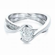 Interlocking Ring Custom Interlocking Engagement Ring 1437 Seattle