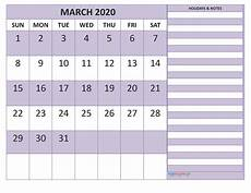 Monthly Calendar Template 2020 Word Free March 2020 Monthly Calendar Template Word Free