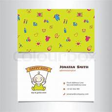 Baby Business Cards Vector Modern Business Card Template With Cute Baby Shop