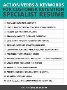 Job Keywords Action Verbs Amp Keywords For Customer Retention Specialist