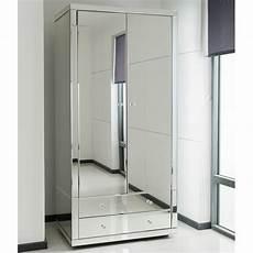 venetian silver mirrored 2 door wardrobe large free