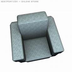 Individual Sofa 3d Image by 3d Model Sofa Single Person C4d Obj 3ds Fbx Single