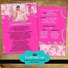 Pink Invitations Pink Floral Roses Quinceanera Invitations Sweet 15