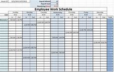 Free Weekly Work Schedule Template Excel Excel Work Schedule Template Monthly Printable Schedule