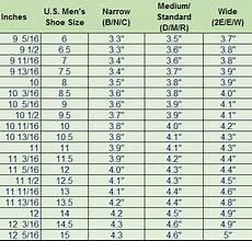 Mens Shoe Width Chart How To Measure Your Feet Size My Bowling Mate