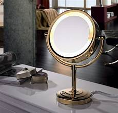 Vanity Mirror With Lights Battery Free Shipping Led Cosmetic Mirror With Light 1 3x Brass