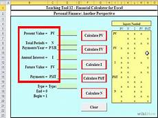 Excel Financial Calculator How To Create An Excel Financial Calculator 8 Steps
