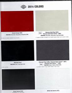 08 Harley Davidson Color Chart Thelifeisdream