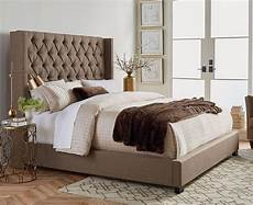 westerly upholstered bed brown standard furniture