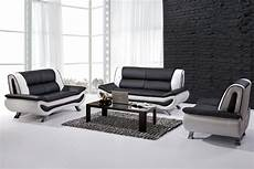 black and white leather sofa set home furniture design